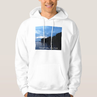Cayuga Lake Blue Sunset Sky Hoodie