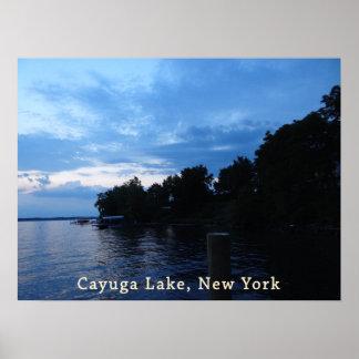 Cayuga Lake Blue Sunset Sky Posters