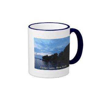 Cayuga Lake Blue Sunset Sky Ringer Mug