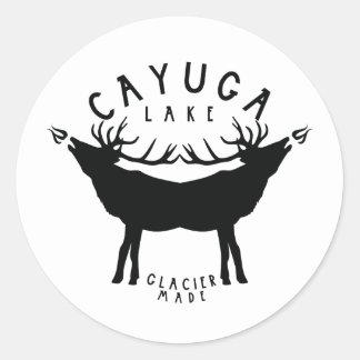 Cayuga Lake Classic Round Sticker