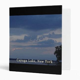 Cayuga Lake Cloudy Sky 3 Ring Binder