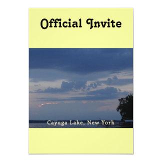 Cayuga Lake Cloudy Sky Card