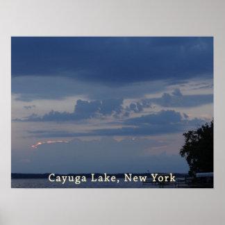 Cayuga Lake Cloudy Sky Poster
