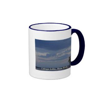 Cayuga Lake Cloudy Sky Ringer Mug