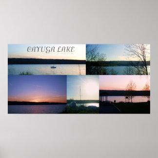 CAYUGA LAKE COLLAGE print