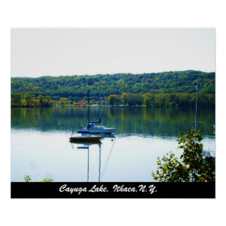 CAYUGA LAKE IN AUTUMN poster