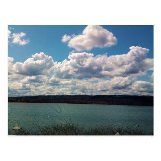 CAYUGA LAKE, ITHACA,NEW YORK postcard