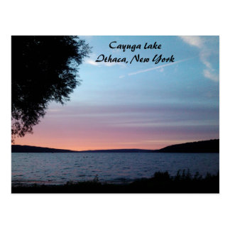 CAYUGA LAKE, NIGHT FALLS postcard