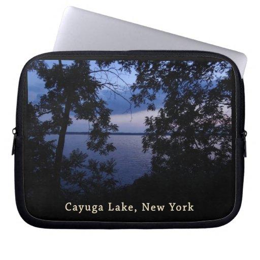 Cayuga Lake NY Sunset Laptop Sleeves