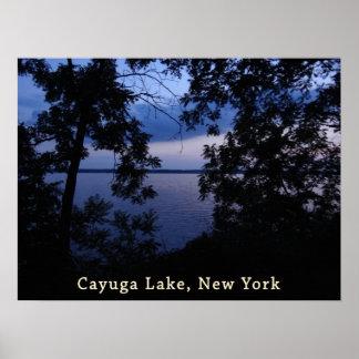 Cayuga Lake NY Sunset Poster