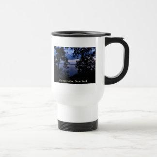 Cayuga Lake NY Sunset Travel Mug