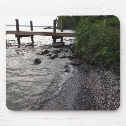 Cayuga Lake Rocky Beach Mousepads