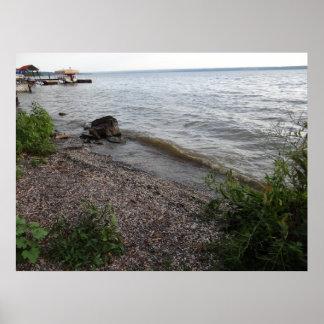 Cayuga Lake Rocky Beach Print