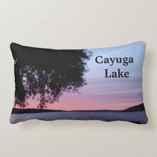 CAYUGA LAKE SETTING SUN LUMBAR PILLOW