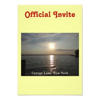 Cayuga Lake Sunset Card