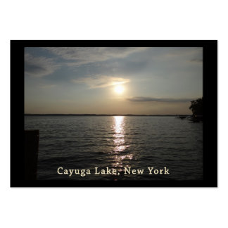 Cayuga Lake Sunset Large Business Cards (Pack Of 100)