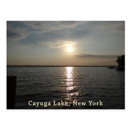 Cayuga Lake Sunset Postcard