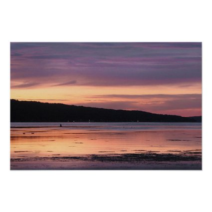 Cayuga Lake Sunset Poster