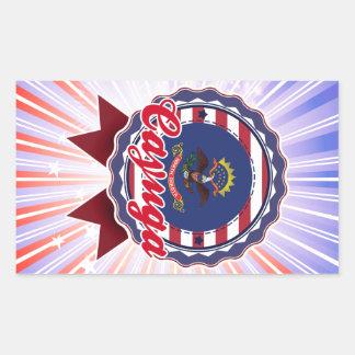 Cayuga, ND Rectangular Sticker