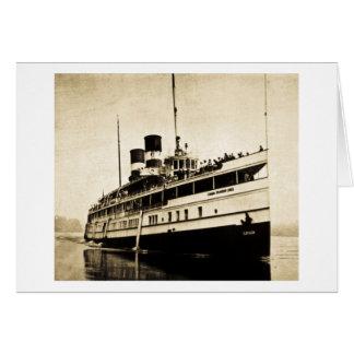 Cayuga Passenger Steamer - Canada Steamship Lines Greeting Card