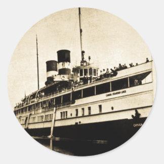 Cayuga Passenger Steamer - Canada Steamship Lines Classic Round Sticker