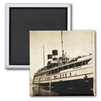 Cayuga Passenger Steamer - Canada Steamship Lines 2 Inch Square Magnet
