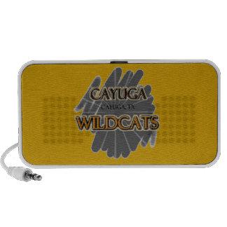 Cayuga TX de los gatos monteses de la High School  Laptop Altavoces