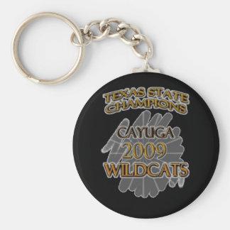 Cayuga Wildcats 2009 Texas State Champions! Basic Round Button Keychain