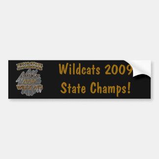Cayuga Wildcats 2009 Texas State Champions! Bumper Sticker