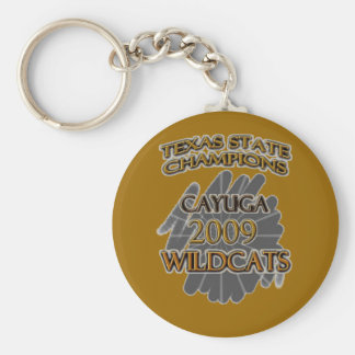 Cayuga Wildcats 2009 Texas State Champions! Keychain