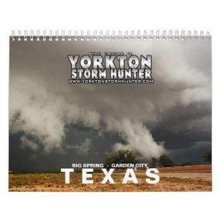 Caza 2015 de la tormenta de TEJAS Calendario De Pared