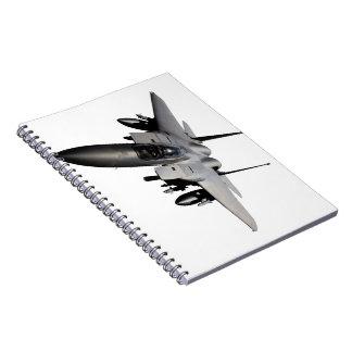 Caza a reacción de F-15 Eagle Spiral Notebooks