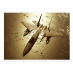 Caza a reacción de F-15 Eagle Tarjetas Postales