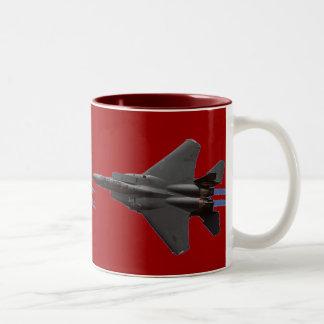 Caza a reacción F-15 Taza De Dos Tonos