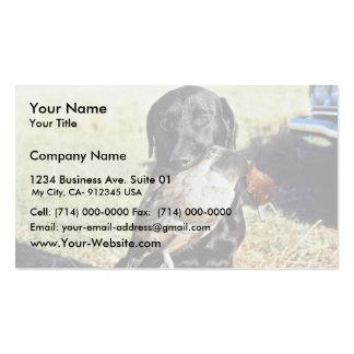 Caza acertada tarjetas de negocios