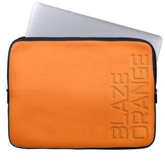 Caza anaranjada de la visibilidad del resplandor fundas computadoras