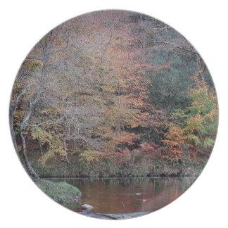 Caza Autunm .2. de Holne del dardo del río de Dart Platos Para Fiestas