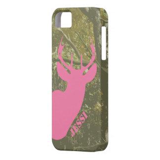 Caza Camo y caso rosado del iPhone 5 de la cabeza iPhone 5 Funda