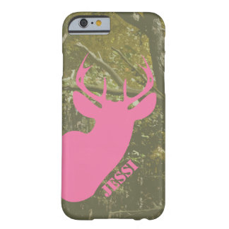 Caza Camo y caso rosado del iPhone 6 de la cabeza Funda De iPhone 6 Barely There