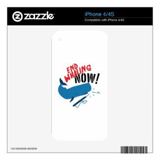 Caza de ballenas del final ahora iPhone 4 calcomanía