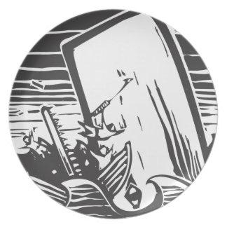 Caza de ballenas platos
