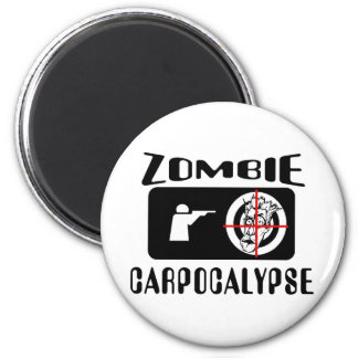 Caza de Carpocalypse del zombi Imán Redondo 5 Cm