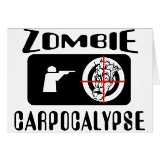 Caza de Carpocalypse del zombi Tarjeta De Felicitación