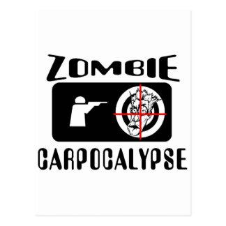 Caza de Carpocalypse del zombi Tarjetas Postales