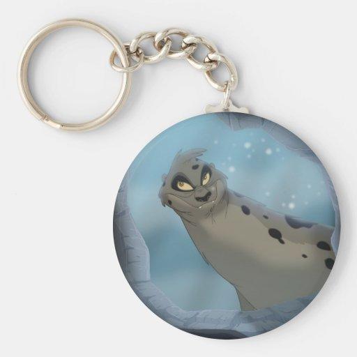 Caza de focas del leopardo llavero personalizado
