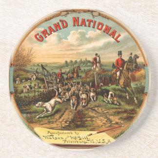 Caza de Fox de Grand National - publicidad de ciga Posavasos Personalizados