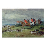Caza de Fox en Surrey, siglo XIX Poster
