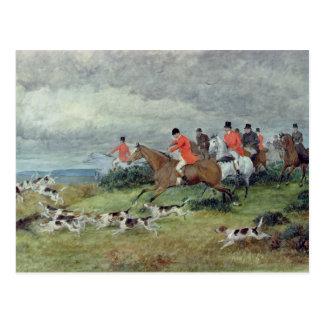 Caza de Fox en Surrey, siglo XIX Postal