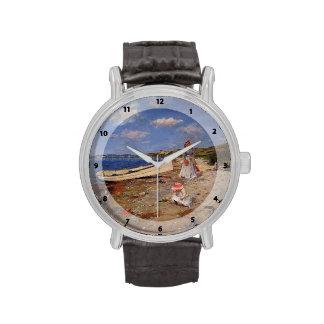 Caza de Guillermo al día soleado en la bahía de Sh Relojes De Pulsera