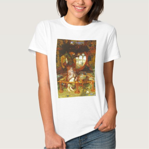 Caza de Guillermo Holman la señora de Shalott T-shirts